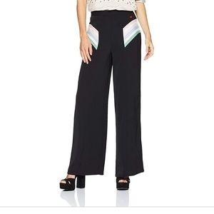 Dear Drew Wide Leg Art Deco High Waisted Trousers